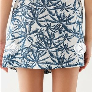 18720a9d44 Urban Outfitters Skirts - Urban outfitter linen palm tree wrap skirt